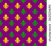 Seamless Pattern For Mardi Gra...