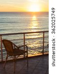 alone chair on terrace with... | Shutterstock . vector #362025749