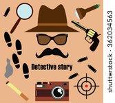 private detective vector set.... | Shutterstock .eps vector #362034563