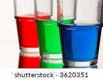 red green blue coloured liquid | Shutterstock . vector #3620351