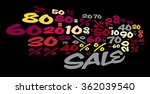 sale word cloud. percent with... | Shutterstock . vector #362039540