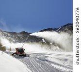 preparation of ski resort in... | Shutterstock . vector #362040776