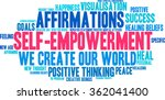 self empowerment word cloud on... | Shutterstock .eps vector #362041400