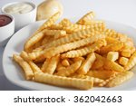portion of french fries ... | Shutterstock . vector #362042663