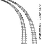 railway vector illustration.  | Shutterstock .eps vector #362044370