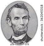 Us President Abraham Lincoln O...