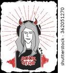 rock star. vector illustration. | Shutterstock .eps vector #362051270