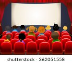 cinema hall. empty cinema... | Shutterstock .eps vector #362051558