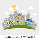 urban buildings graphic  | Shutterstock .eps vector #362057876