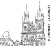 Prague Town  Czech Republic....