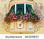 flowers adorning a decorative... | Shutterstock . vector #36205837