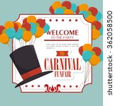circus carnival entertainment  | Shutterstock .eps vector #362058500
