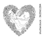 Angel On Heart Shape Ornament...