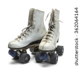 Two Worn Roller Skates Isolate...