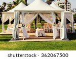 luxurious wedding tent with... | Shutterstock . vector #362067500