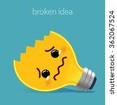 Sad And Broken Light Bulb  Ide...