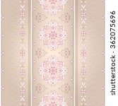 floral pink seamless border on... | Shutterstock .eps vector #362075696