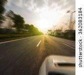 sunset forest roads | Shutterstock . vector #362083184