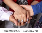 hand to and support each other... | Shutterstock . vector #362086970