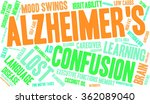 alzheimer's word cloud on a... | Shutterstock .eps vector #362089040