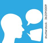 man speaking. chat bubbles | Shutterstock .eps vector #362093009