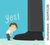 cartoon employee bowing sign... | Shutterstock .eps vector #362093138