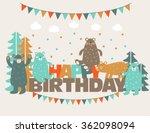 happy birthday   lovely vector... | Shutterstock .eps vector #362098094