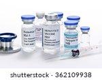 childhood vaccine vials with... | Shutterstock . vector #362109938
