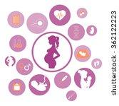 pregnancy and newborn baby... | Shutterstock .eps vector #362122223