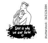 couple in love hugging husband... | Shutterstock .eps vector #362126384