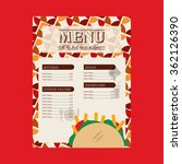 mexican food design    Shutterstock .eps vector #362126390