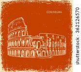 coliseum in rome  italy.... | Shutterstock .eps vector #362126570