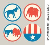 campaign buttons icons of... | Shutterstock .eps vector #362131310