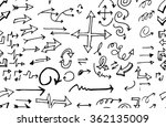 hand drawn doodle seamless... | Shutterstock .eps vector #362135009