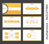 orange presentation templates... | Shutterstock .eps vector #362137484