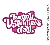 happy valentine's day   perfect ... | Shutterstock .eps vector #362141426