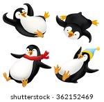 set of sliding penguins... | Shutterstock .eps vector #362152469