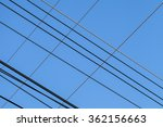 high voltage  lines and blue... | Shutterstock . vector #362156663