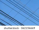 high voltage  lines and blue... | Shutterstock . vector #362156669