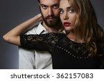 lovely couple in tender passion....   Shutterstock . vector #362157083