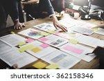 business people meeting design... | Shutterstock . vector #362158346