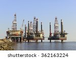 oil drilling platform in the...   Shutterstock . vector #362163224