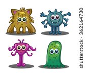 set of cute cartoon monsters...