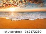 brilliant ocean beach sunrise. | Shutterstock . vector #362172290