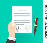 business man hand holding... | Shutterstock . vector #362172308