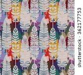 seamless pattern with birds... | Shutterstock .eps vector #362177753