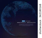 world map point  line ... | Shutterstock .eps vector #362180168