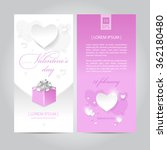 valentines day flyer pink vector | Shutterstock .eps vector #362180480
