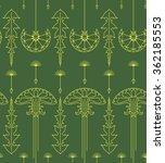 seamless art nouveau stylized... | Shutterstock .eps vector #362185553