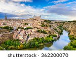 toledo  spain old town city... | Shutterstock . vector #362200070
